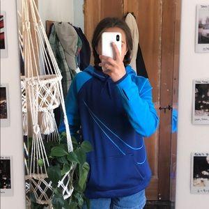 Blue Nike hoodie/sweatshirt